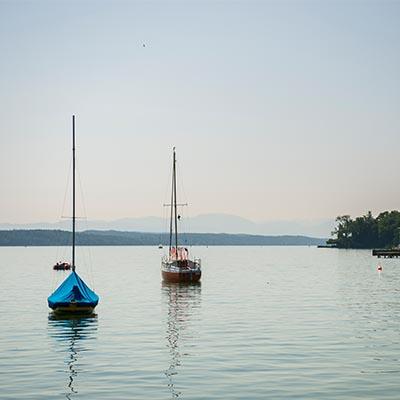Starnberger See - Boote - Starnberger See. Possenhofen. Seeblick.